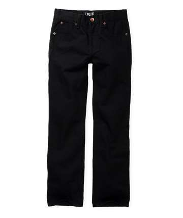 Free World Boys Messenger Black Chino Pants