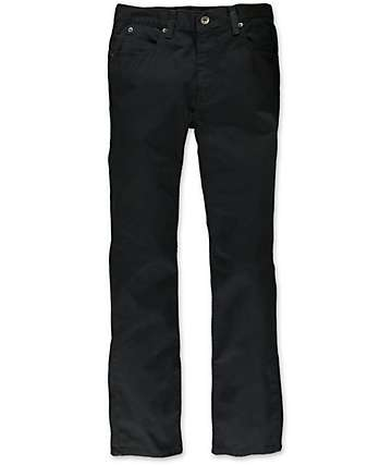 Free World Boys Messenger Black Twill Skinny Pants