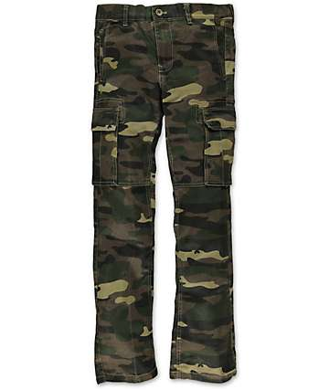 Free World Boys Messenger Camo Print Cargo Pants