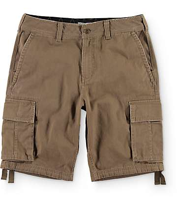 Free World Calamity Dark Khaki Cargo Shorts
