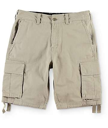 Free World Calamity Khaki Cargo Shorts