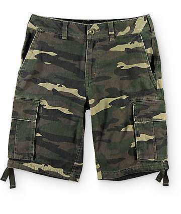 Free World Cataclysm Camo Cargo Shorts