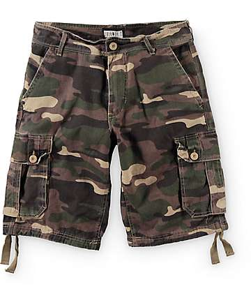 Free World Debacle Camo Cargo Shorts