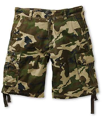 Free World Debacle Rambler Camo Cargo Shorts