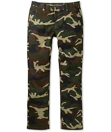 Free World Drifter Camo Slim Straight Fit Chino Pants