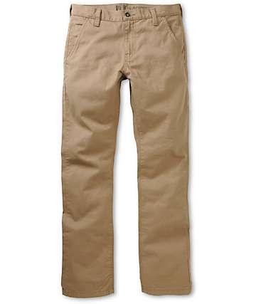 Free World Drifter Khaki Slim Fit Chino Pants