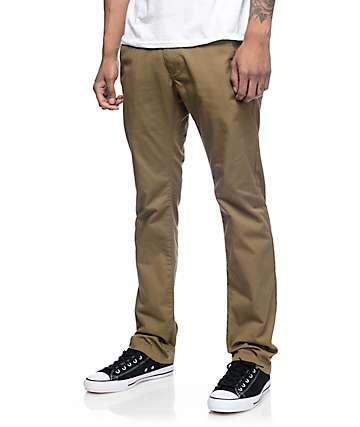 Free World Drifter pantalones chinos caquis oscuros