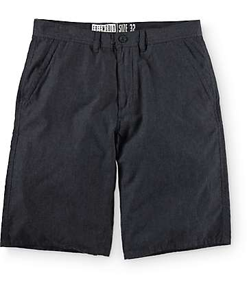 Free World Hayden Heather Black Soft Chino Shorts