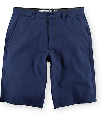 Free World Hayden Heather Navy Soft Chino Shorts