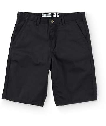Free World Hooligan Black Chino Shorts
