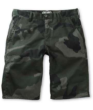 Free World Hooligan Rambler Camo Chino Shorts