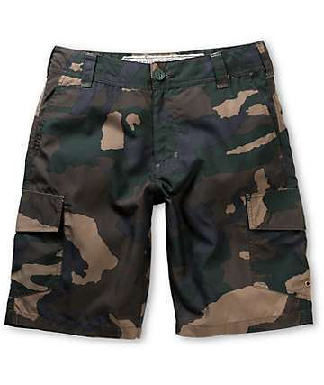 Free World Hunnington Camo Print Hybrid Shorts