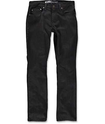 Free World Messenger Black Raw Skinny Fit Jeans