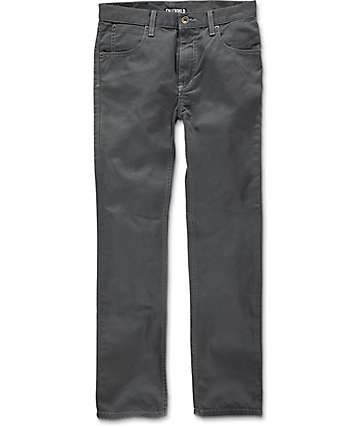 Free World Messenger Boys Charcoal Twill Pants