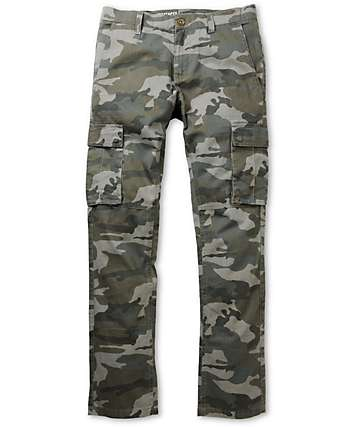 Free World Messenger Camo Skinny Fit Cargo Pants