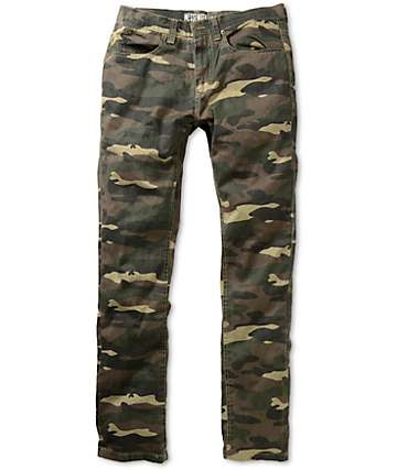 Free World Messenger Camo Skinny Pants
