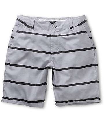 Free World Newport Grey Stripe Hybrid Shorts