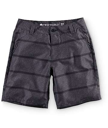 Free World Newport Stripe Hybrid Chino Board Shorts
