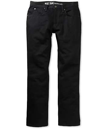 Free World Night Train Black Denim Regular Fit Jeans