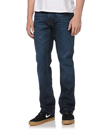 Free World Night Train Jeans de ajuste regular Azul lavado medio