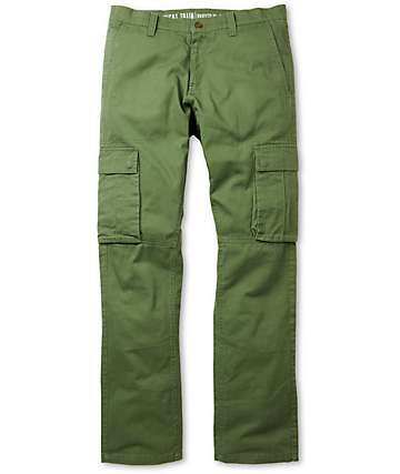 Free World Night Train Olive Regular Fit Cargo Pants