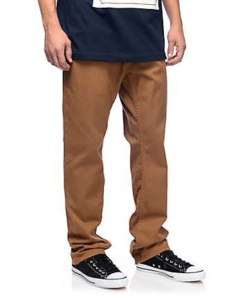 Free World Night Train Regular Fit Twill Hazelnut Pants
