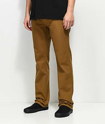 Free World Night Train Tobacco Twill Pants