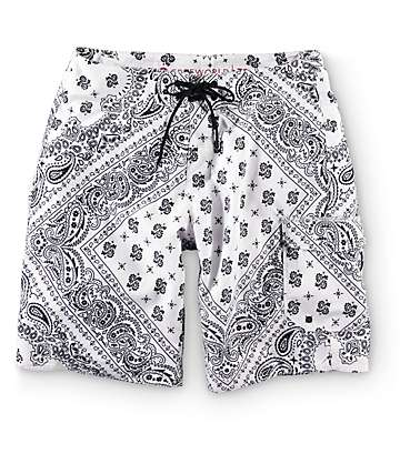 Free World Pretty Fly Bandana 20.5 Board Shorts
