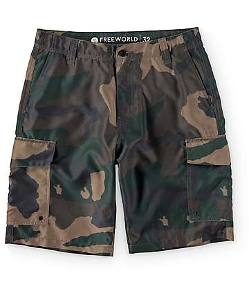 Free World Supertubes 2 shorts hibridos cargo camuflados