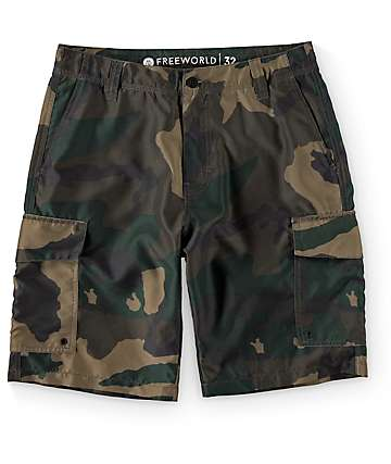Free World Supertubes Camo Hybrid Shorts