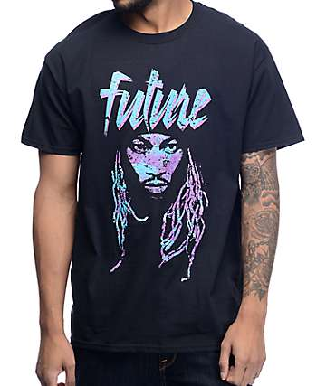 Freebandz Future Face Black T-Shirt