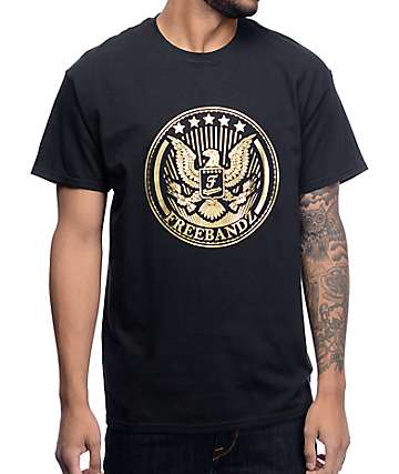 Freebandz Gold Emblem Black T-Shirt