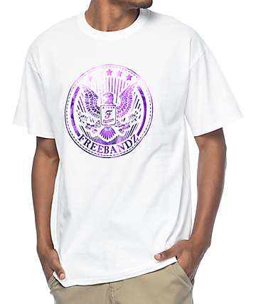 Freebandz Purple Emblem White T-Shirt