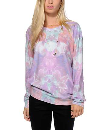 Freeze Floral Sublimated Crew Neck Sweatshirt