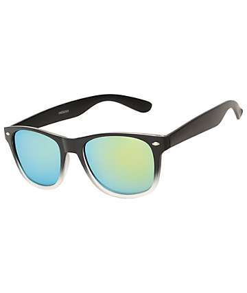 Frosted Black & White Fade Sunglasses