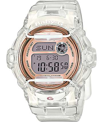 G-Shock Baby-G BG169G-7B Clear & Rose Gold Watch