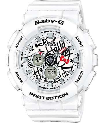 G-Shock Baby-G X Hello Kitty BA-120KT-7A reloj blanco