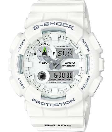 G-Shock G-Lide GAX100A-7A reloj análogo y digital blanco