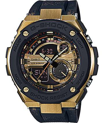 G-Shock G Steel GST-200CP-9ACR Black & Gold Watch