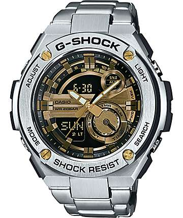 G-Shock G-Steel GST210D-9A Silver & Gold Watch