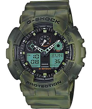 G-Shock GA-100MM-3A Marble Woodland Watch