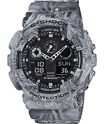 G-Shock GA-100MM-8A Marble White reloj