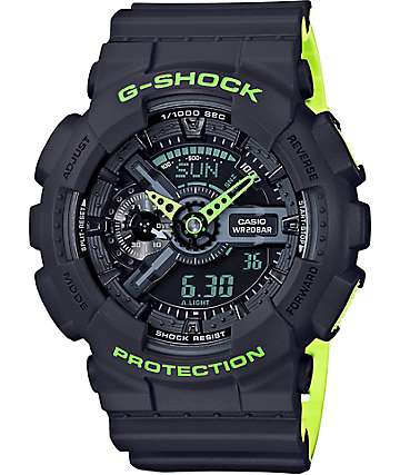 G-Shock GA-110LN-8A Grey & Green Watch