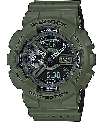 G-Shock GA-110LPA-3A Military Perforated Olive Watch