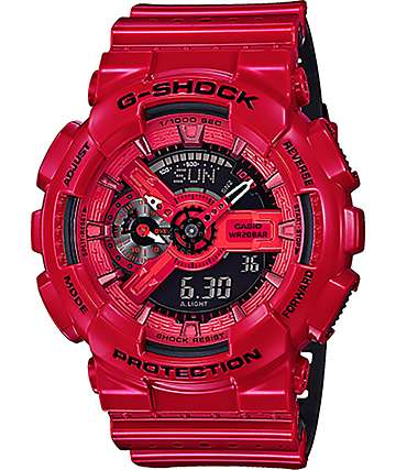 G-Shock GA-110LPA-4A Military Perforated Red Watch