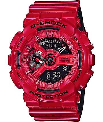 G-Shock GA-110LPA-4A Military reloj perforado en rojo