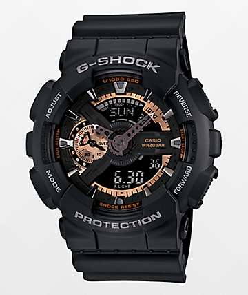 G-Shock GA-110RG-1A Black & Rose Gold Analog Watch