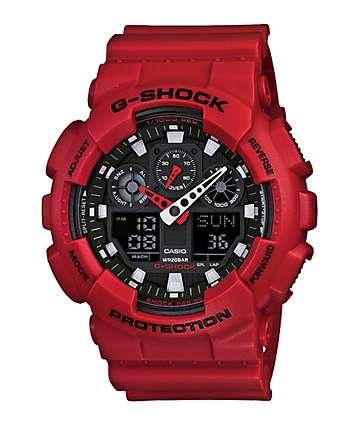 G-Shock GA100B-4AXL reloj rojo