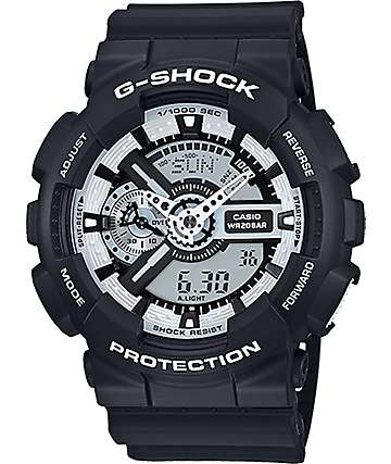 G-Shock GA100BW-1A Digital Chronograph Watch