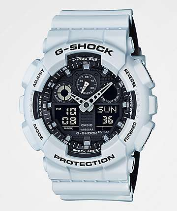 G-Shock GA100L-7A Military reloj Layered en blanco